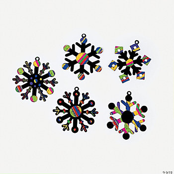 Magic Color Scratch Snowflake Ornaments