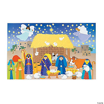 12 Design Your Own Giant Nativity Sticker Scenes