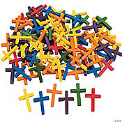 100 Wonderful Wood Cross Beads