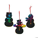 Magic Color Scratch Snowman Christmas Ornaments