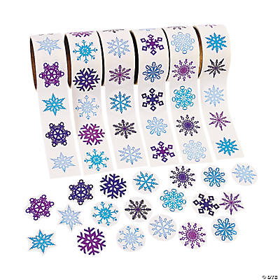 Snowflake Stickers on A Roll