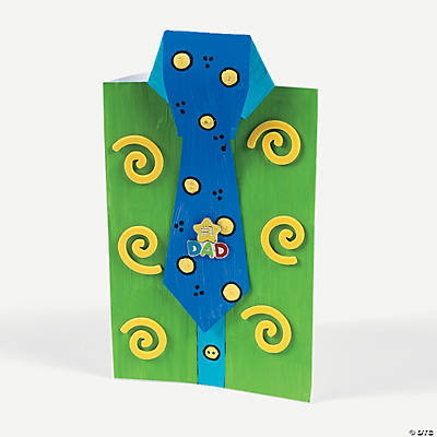 DIY Father's Day Cards with Tie Tack