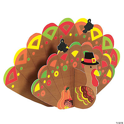 DIY 3-D Jumbo Turkeys with Stickers