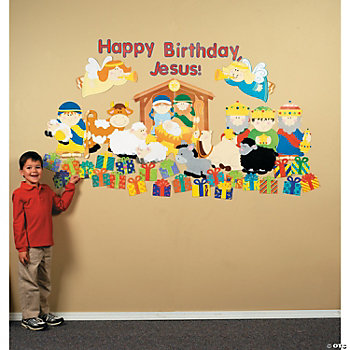 "DIY ""Happy Birthday, Jesus"" Classroom Scene Set"