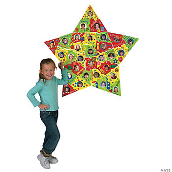 DIY Star Photo Bulletin Board Puzzle