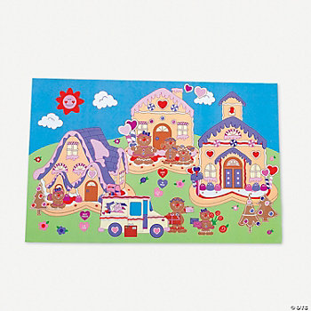 12 Design Your Own! Giant Valentine Village Sticker Scenes