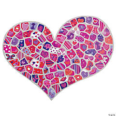 DIY Giant Mosaic Valentine Heart-Shaped Sticker Scenes