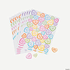 528 Conversation Heart Stickers
