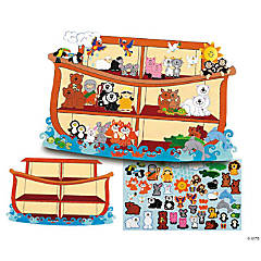 Design Your Own! Giant Noah's Ark-Shaped Sticker Scenes