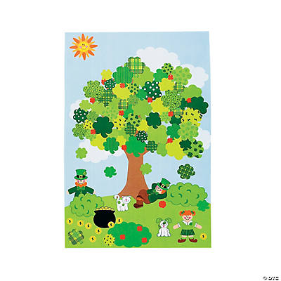 12 Design Your Own Giant Shamrock Tree Sticker Scenes