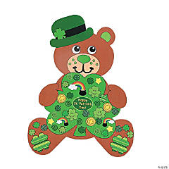 12 DIY Giant Irish Teddy Bear-Shaped Sticker Scenes