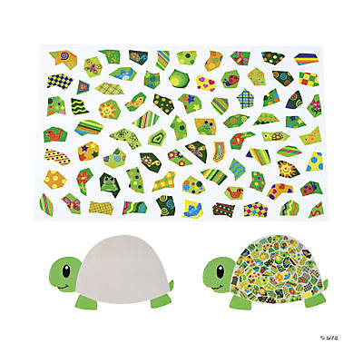 12 DIY Giant Mosaic Turtle-Shaped Sticker Scenes