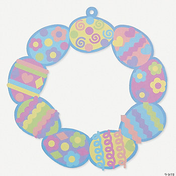 12 Easter Egg Wreath Sticker Scenes