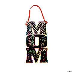 Magic Color Scratch Mom Ornaments