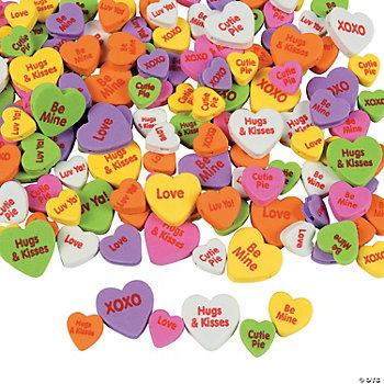 500 Fabulous Foam Conversation Heart Bead Assortment
