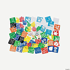 72 Pc. Super Mega Seasonal Stencil Kit