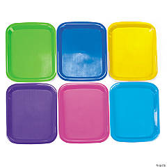 6 Plastic Cool Craft Trays