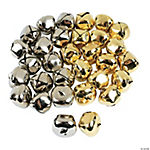 48 Pc. Jumbo Goldtone And Silvertone Jingle Bell Kit
