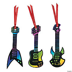 Magic Color Scratch Rock Star Guitar Ornaments