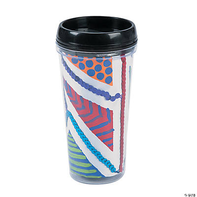 DIY Travel Mugs - 6 pcs.