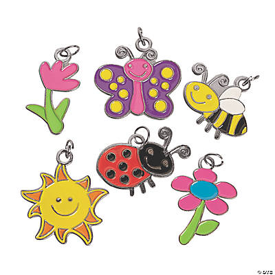 36 Super Spring Enamel Charms