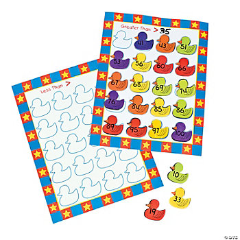 Carnival Ducks Greater Than/Less Than Sorting Activity