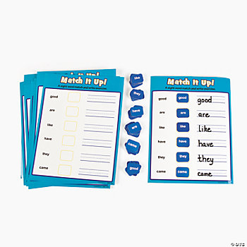 Sight Word Match Up Activities