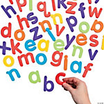 62 Pc. Magnetic Lowercase Letter Set