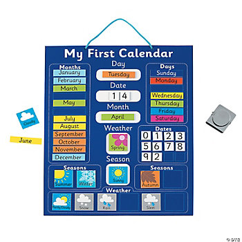 My First Calendar Magnetic Chart