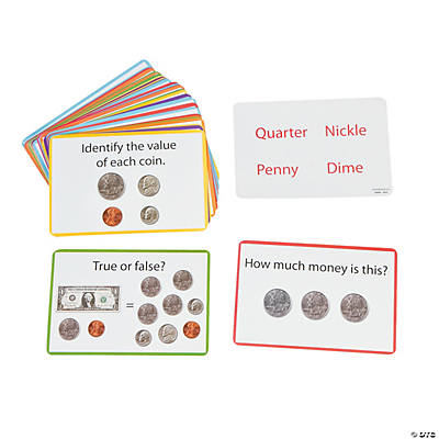 Double-Sided Math Money Cards