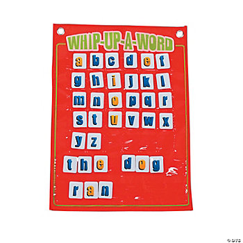 81 Pc. Whip-Up-A-Word Pocket Chart