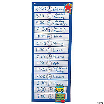 Scheduling Pocket Chart