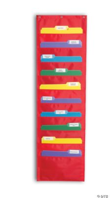 File Folder Storage Pocket Chart - Red