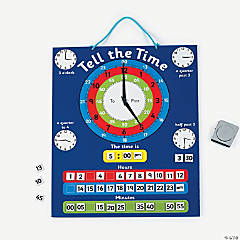 Telling Time Magnetic Chart Set