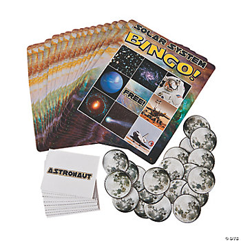 100 Pc. Solar System Bingo Game