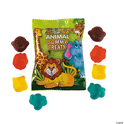 Zoo Animal Gummy Candy Packs