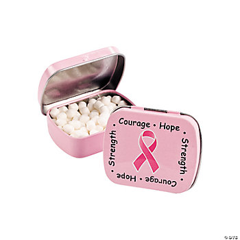 Pink Ribbon Tins with Mints