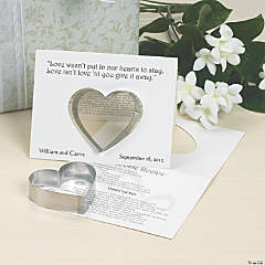 Wedding Cookie Cutters with Card