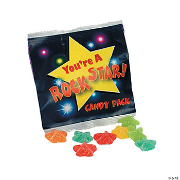 """You're A Rock Star!"" Candy Gels Treat Packs"