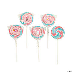 Personalized Baby Girl Swirl Pops