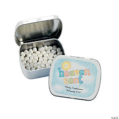 "24 Personalized ""Heaven Sent"" Mint Containers"