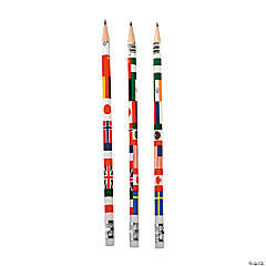 Multicultural Flag Pencils