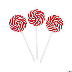 Red Swirl Pops