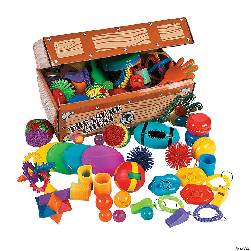Small Oriental Trading Company Toys : Treasure chest with toy assortment