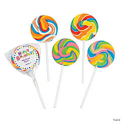 Personalized Birthday Celebration Swirl Pops