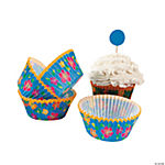 Island Hibiscus Baking Cups With Picks