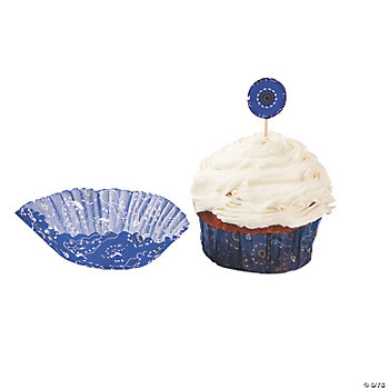 Wild West Blue Baking Cups With Picks