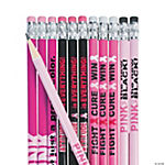 Pink Ribbon Pencil Assortment