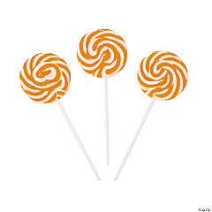 Bright Orange Swirl Pops