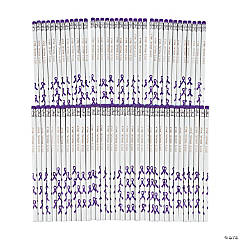 Personalized Purple Awareness Ribbon Pencils